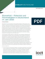 Biomethan – Potenzial und Nachhaltigkeit in Deutschland im Jahr 2050