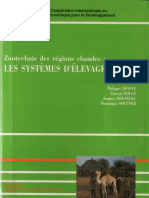 Manuel de Zootechnie Des Régions Chaudes