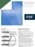 Samsung Camera ES74 ES75 ES78 English User Manual