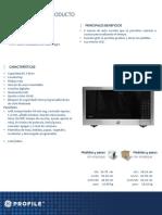 Ficha Tecnica Peb160sfss( Microondas de Empotrar)