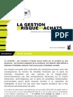 2013 08 SC MIIHA Seminaire La Gestion Du Risque Aux Achats