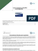 Apoyo para la capacitación con OpenOffice