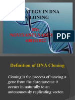 Strategy in DNA Cloning