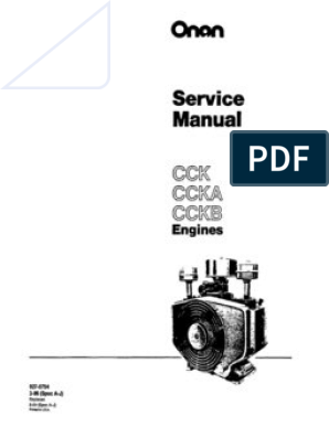 Onan Service Manual CCK Engine 927-0754 on