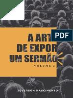 A Arte de Expor Um Sermão. Vl. 2
