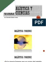 CRIMINALISTICA Y OTRAS CIENCIAS