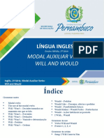 Modal Auxiliar Verbs - Will and Would (1)