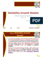 Reliability Growth Models