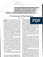 ESCOBAR, Arturo, 1999, The Invention of Development