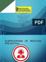 Subprograma Medicina Preventiva