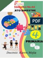 Guía 3 Cuarto Primaria IV Bimestre.