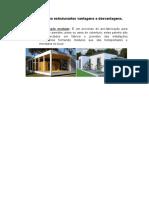 Edificações não estruturantes vantagens e desvantagens