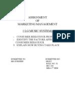 { Lg Music System