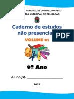 Caderno de atividades de Matemática