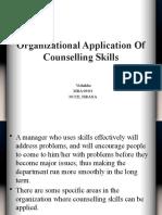Organizational Application Of Counselling Skills