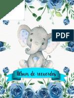 album bebe elefante azul