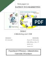 E-marketing and E- CRM