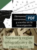 Herramientas de comunicación oral y escrita en la investigación