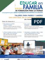 PLAN CANARIO DE FORMACIÓN PARA LA FAMILIA - EDUCAR EN FAMILIA - LA LAGUNA - TACO