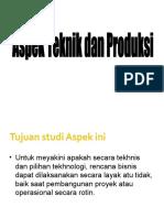 Aspek Teknik Dan Produksi