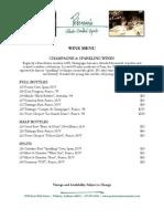 petersons wine menu