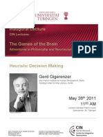 Poster 2011-05-26 Gerd Gigerenzer - Heuristic Decision Making