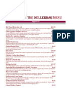 The Kellerbar Menu