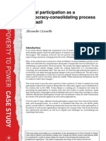 Social Participation as a Democracy-Consolidating Process in Brazil