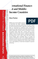 International Finance: Aid and middle-income countries