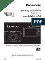 Panasonic LX3 User Manual