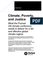 Climate, Poverty, and Justice