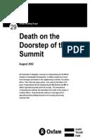 Death on the Doorstep of the Summit