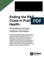 Ending the R&D Crisis in Public Health
