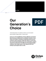 Our Generation's Choice