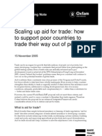 Scaling Up Aid for Trade