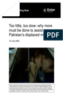 Too Little, Too Slow: Why more must be done to assist Pakistan's displaced millions