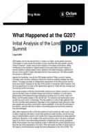 What Happened at the G20? Initial analysis of the London summit