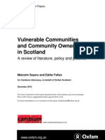 Vulnerable Communities and Community Ownership in Scotland
