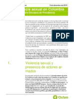 Sexual Violence in Colombia