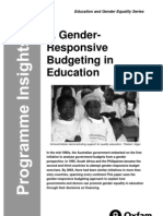 Gender-Responsive Budgeting in Education