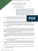 Emenda Constitucional Nº 111 - Dou - Imprensa Nacional