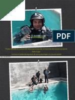 Respirar con equipos drager de Bombero bajo el agua