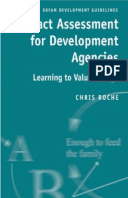 Impact Assessment for Development Agencies: Learning to value change