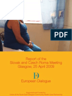 Report of the Slovak and Czech Roma Meeting, Glasgow, 25 April 2009