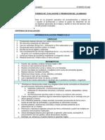 CRITERIOS DE  EVALUACIÓN Y PROMOCIÓN NTRA. SRA. DEL ROSARIO