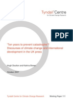 Ten years to prevent catastrophe�? Discourses of climate change and international development in the UK press