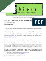 CahiersILTP_Bauer_EduquerFormer_PP_EducationFoi_Avril2017