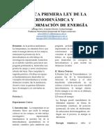 PRÁCTICA PRIMERA LEY DE LA TERMODINÁMICA Y TRANSFORMACIÓN DE ENERGÍA (1)