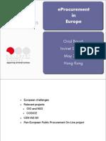 eProcurement in Europe - Hong Kong