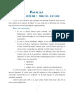 Paralela Auditul Intern - Auditul Extern
